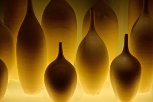 Glowing Vases with Dim Light